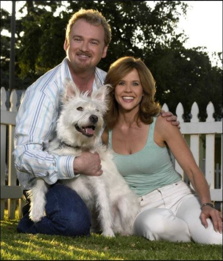 Clive Pearse and Linda Taylor with a rescued dog