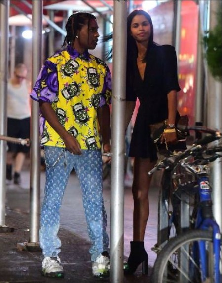 ASAP Rocky with his Gilfriend Daiane Sodre