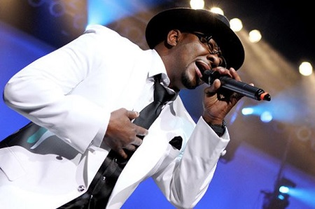 Bobby Brown live on the stage.
