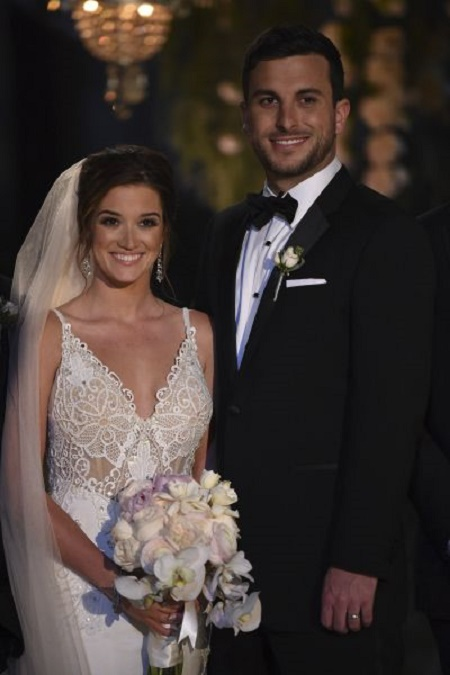 Jade Roper And Tanner Tolbert  at their wedding ceremony