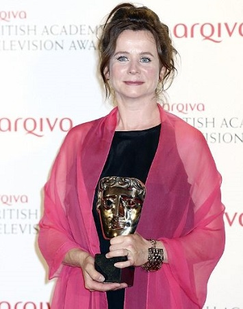 Emily after winning awards at BAFTA TV Awards