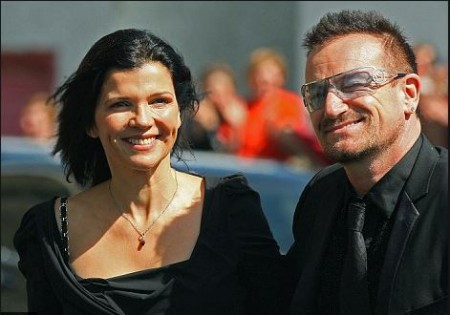 Bono and his late wife Ali Hewson as the guest attending Bret Desmond's wedding