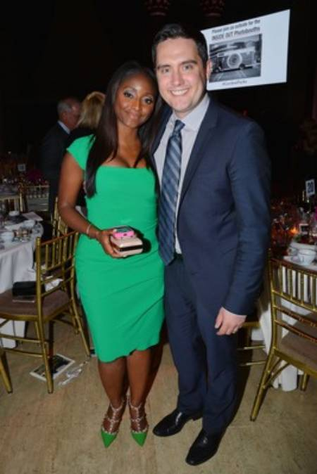 Leif Coorlim with his CNN's journalist and wife, Isha Sesay