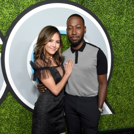 Erin and Lamorne together at an event