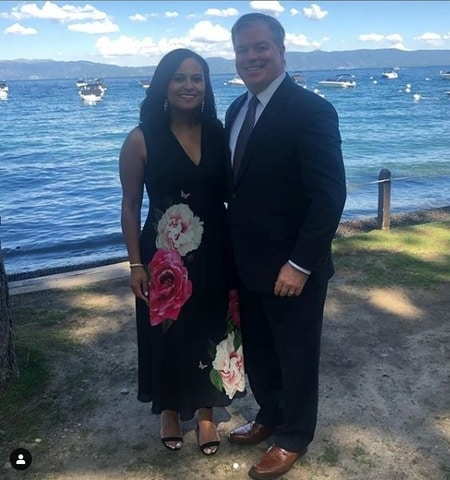 Kristen Welker and John Hughes enjoying a romantic gateaway before the wedding
