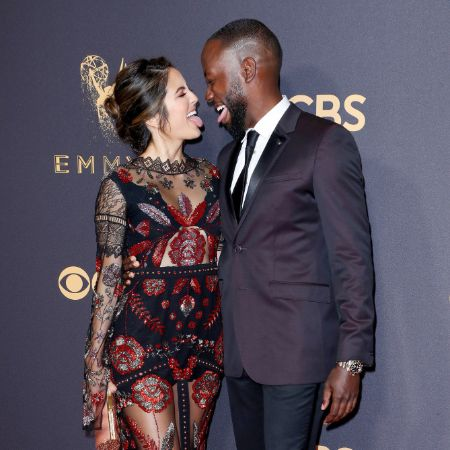 Erin and Lamrone are looking happy while attending Emmy Awards
