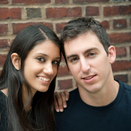 Paul and his wife, Neha looking happy together