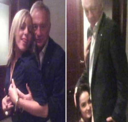 Jerry Jones' controversial picture with two females
