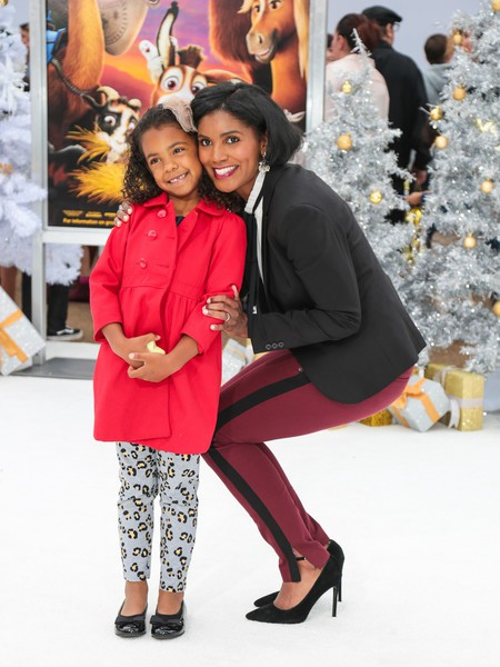 Denise Boutte with her daughter Jordan Simone during Christmas