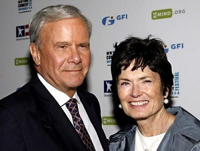 Meredith Lynn Auld and her spouse tom Brokaw