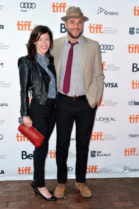 "Julia Hart and Jordan Horowitz attend the ""You Are Here"" Premiere  at Toronto International Film Festival in  2013"