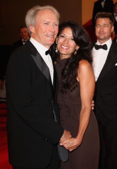 Clint Eastwood with his second wife, Dina Ruiz
