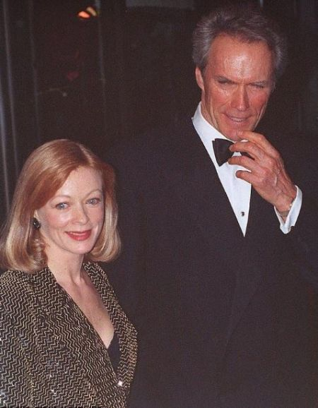 American actor Clint Eastwood with Frances Fisher