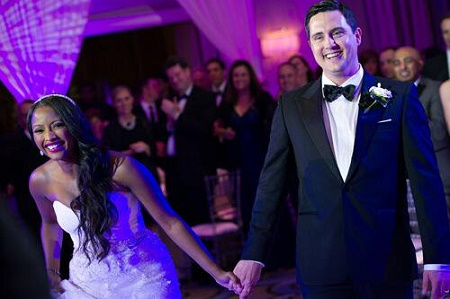 Former couple, Isha Sesay and Leif Coorlim at their wedding days