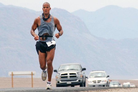 David Goggins running in the ultramarathon