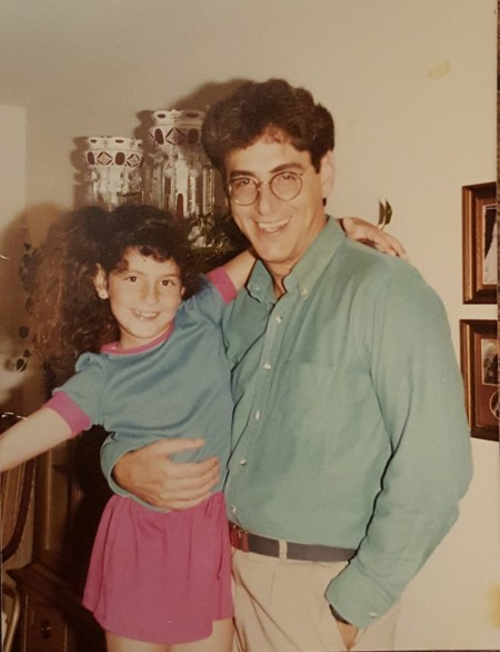 Anne Ramis' husband, Harold Ramis with his first child