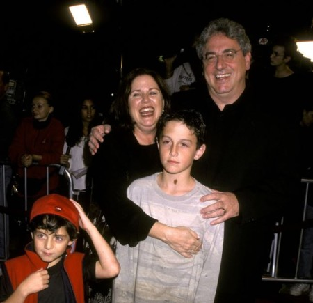 Harold Ramis with his wife, Erica Mann and their sons