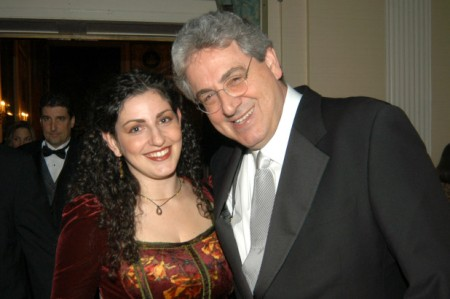 Mollie Israel with her biological father, Harold Ramis