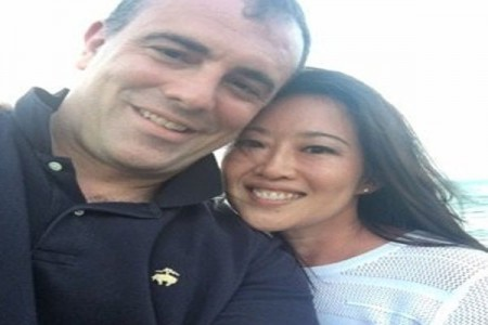 Benjamin Kallo and Melissa Lee enjoying a holiday outdoors