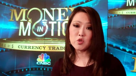Melissa Lee hosting a show in CNBC