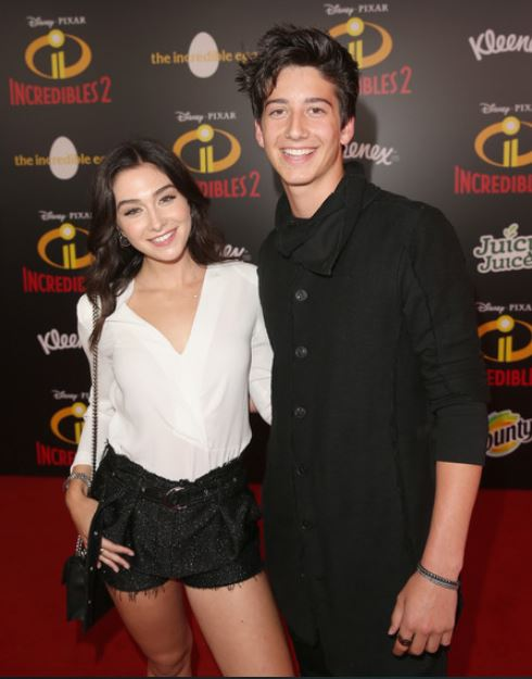 Milo Manheim and Holiday Kriegel at the World Premiere of Disney Pixar's Incredible 2