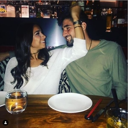 Jess Gomez and Nicholas Castellanos sharing a romantic dining together