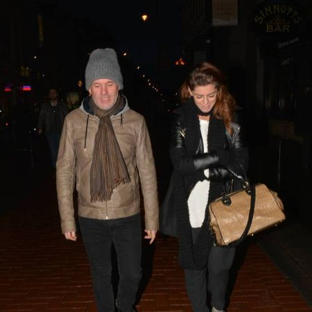 Chris and his ex-girlfriend, Aoibhinn walking together