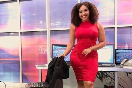 Demetria Obilor in her size 6 dress for which she was body slammed