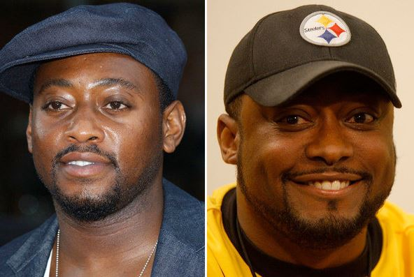 NFL head coach, Mike Tomlin and actor, Omar Epps are quite similar in their appearance.
