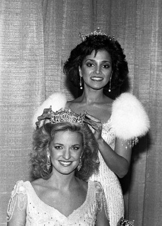 Suzette Charles crowns her successor in 1984.