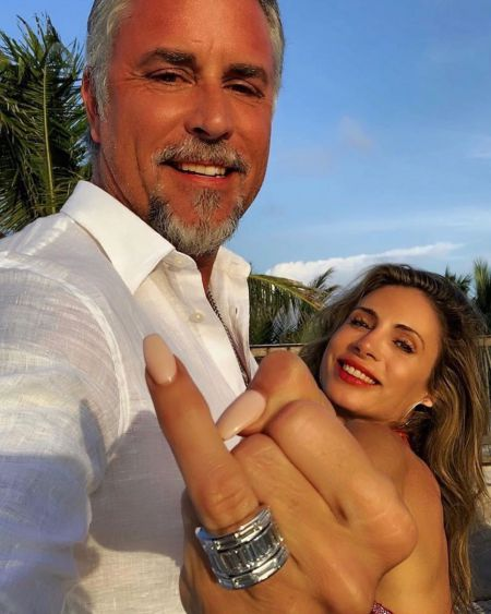 Suzanne Rawlings' husband, Richard and his fiance, Katerina Deason showing her expensive ring