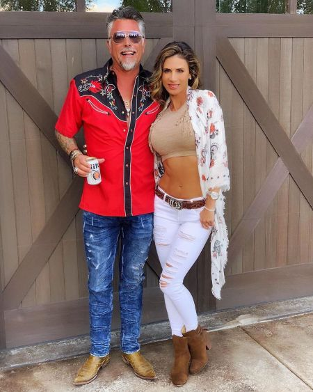 Richard Rawlings with his fiance, Katerina Deason