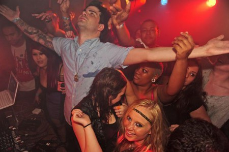 Hunter Moore enjoying his party in Chinatown