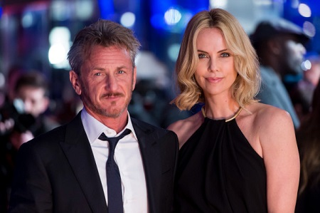 Charlize and her third partner Sean Penn