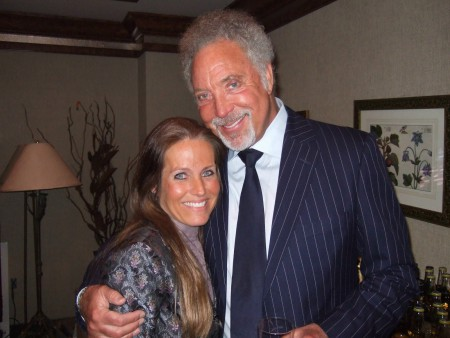 Tom Jones and Charlotte Laws together