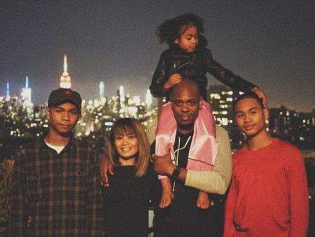Dave Chappelle and his family