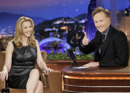 Conan interviewing Lisa Kudrow.