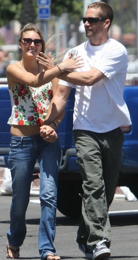 Late Paul Walker with his girlfriend Jasmine Pilchard-Gosnell