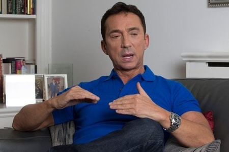 Bruno Tonioli giving his interview with The Mirror