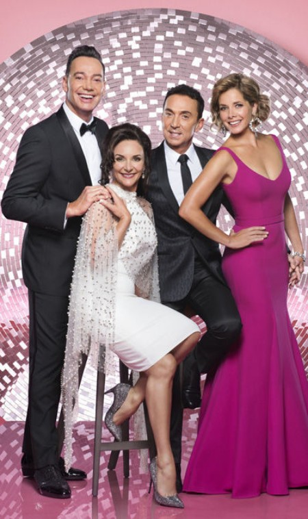 Bruno Tonioli with his co-judges of the Dancing with the Stars