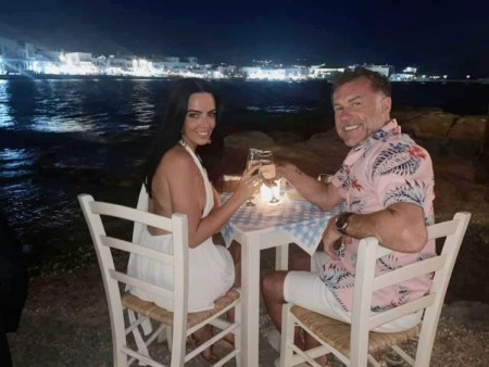 Chris Quinten and his fiancee, Robyn Delabarre enjoying their candle-light dinner