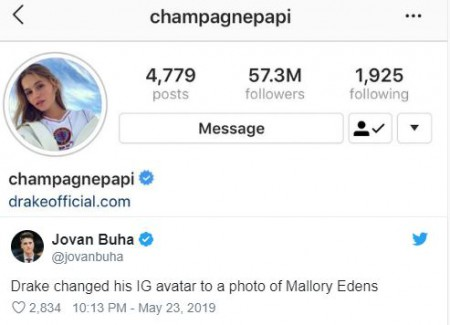 Drake and Mallory Edens had a beef in May 2019