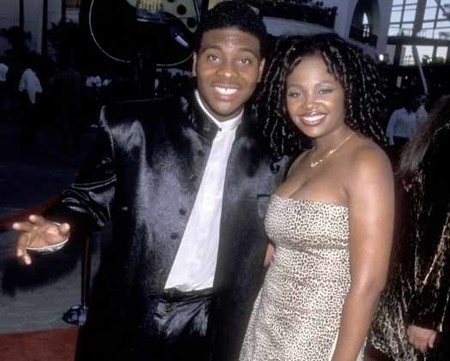 Tyisha Hampton with her former husband Kel Mitchell at the movie promotion
