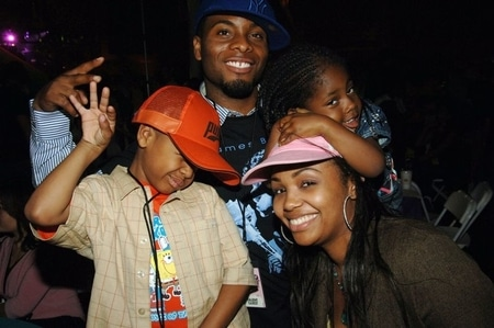Tyisha Hampton with her former husband Kel Mitchell and two children Lyric and Allure