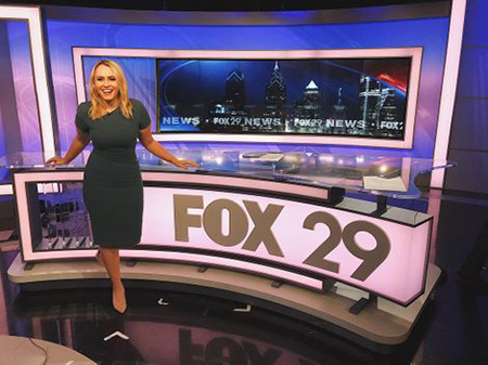 Kristen Rodgers working at Fox 29