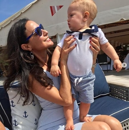 Natalie Solis spending time with her nephew