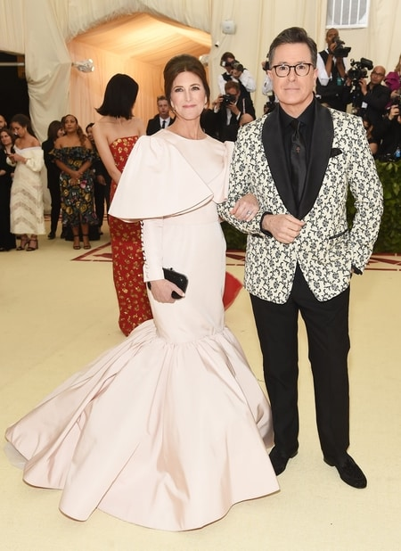 Stephen Colbert and Evelyn McGee at Met Gala 2018