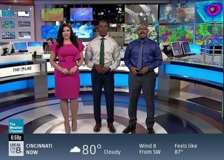 Felicia Combs with her colleagues at The Weather Channel