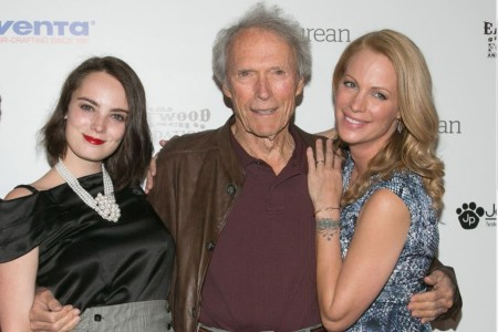 Kyle Eastwood and Laura Gomez's daughter, Graylen Eastwood with her grandfather, Clint Eastwood and aunt, Alison Eastwood