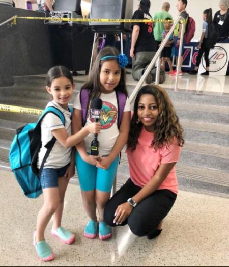 Bilingual reporter, Brittney Ermon with two cute kids